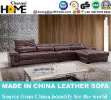 Sofa moderne de bureau de sofa de cuir de salle de séjour de qualité avec le coin (HC3006)