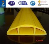 Le protecteur de câble de PVC, tout montent le protecteur de câble de PVC de protecteur de câble, protecteur en caoutchouc de câble de rampe de PVC de rampe jaune durable lourd de câble