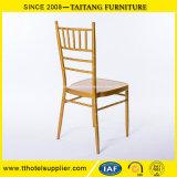 Ouro da mobília do hotel do metal da cadeira de Chiavari do banquete
