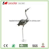 Figurine revestido pó do flamingo do metal para a decoração da HOME e do jardim
