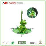 Polyresin Cow Birdfeeder con una estatuilla de paraguas para la decoración del hogar y jardín
