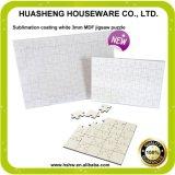 中国の工場卸売の正方形印刷できるMDFのブランクジグソーパズル