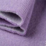 Deux côtés des tissus d'acétate de laines et de cellulose dans mauve-clair
