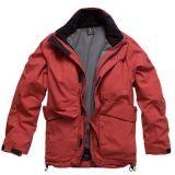 Pongis 100% del poliester con el blanco cubierto para la tela de la chaqueta