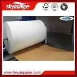Riesige Rolle 50inch Nicht-Kräuseln schnelles trockenes Umdruckpapier der Sublimation-57GSM mit Hochgeschwindigkeitsdrucker
