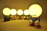 Lámpara recargable de la noche del USB de Deco de la historieta del LED