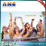 Bracelets de concert d'IDENTIFICATION RF tissés par IDENTIFICATION RF de degré de sécurité de bracelets