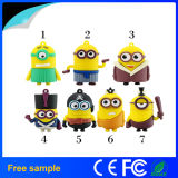Cadeau promotionnel 8 Go de caoutchouc Cartoon Minion USB Flash Drive