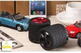 Altoparlante rotondo esterno di Bluetooth di rotolamento della rotella degli altoparlanti della gomma di automobile di GS