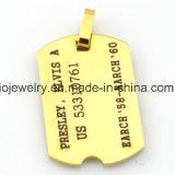 Joyería ideal de acero de la aduana de la identificación de la etiqueta de perro