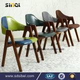 喫茶店のホテルのレストラン部屋の家具の木の余暇アーム椅子の純木Sbe-Cy03314