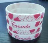 Wristband силикона логоса Customed цветастый для подарка промотирования