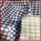 Эластичная ткань сатинировки Silk хлопка картины проверки смешанная