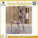 椅子を食事する高い背部ステンレス鋼の足のピンクファブリック