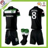 Он-лайн футбол 100% сублимации полиэфира покупкы Джерси, трикотажные изделия футбола набора футбола выполненные на заказ