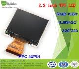 """Modèle : 2.2 """" étalage de TFT LCD de 320*250 RVB 15bit, IC : Ili9342c, FPC 40pin pour la position, sonnette, médicale, véhicules"""