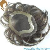 自然なヘアライン人のためのスイスのレースの人間の毛髪の置換