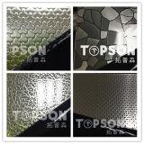 Feuille gravée en relief décorative d'acier inoxydable de la configuration de mosaïque 304