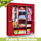 Mobília Foldable do quarto do Wardrobe da tela do projeto moderno de DIY