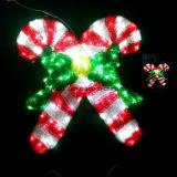 2017 de Populaire Aangepaste Decoratieve Lichten van Kerstmis van het Riet van het Suikergoed voor OpenluchtVerlichting