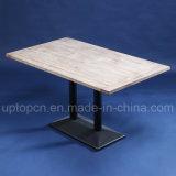 Таблица мебели трактира прямоугольника с деревянными верхней частью таблицы и ногой чугуна (SP-RT561)