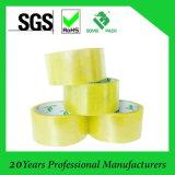 Cinta de empaquetado de aislamiento del rectángulo de papel BOPP de China del cartón adhesivo amarillento del surtidor