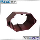 Perfil de aluminio industrial cuadrado 6061 de la venta directa 6063 de la fábrica con plata anodizada
