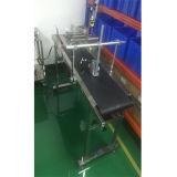 Cadena de producción automática transportador de correa ajustable de PVC para la impresora de inyección de tinta