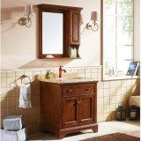 純木の小型の浴室用キャビネットの虚栄心および流し(GSP14-045)