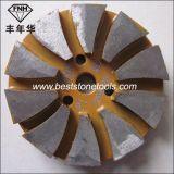 Bloque de pulido del diamante del metal con Velcro