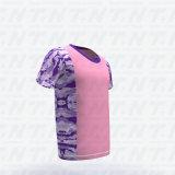 Toda sobre o Tshirt da cópia os homens vendem por atacado homens da camisa do fecho de correr T da garganta de grupo