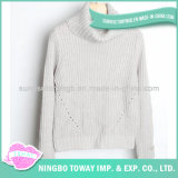 Camisola Hand Knitted do Crochet feito sob encomenda da forma do baixo preço