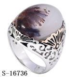 De Nieuwe Modellen Hotsale van de fabriek 925 Zilveren Natuurlijke Ringen van de Mensen van het Agaat