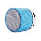 Mini altavoz sin hilos portable de Bluetooth con la luz colorida del LED