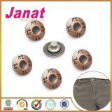 Вспомогательное оборудование одежды кнопки джинсыов кнопки хвостовика кнопки металла
