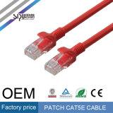 Cable de la venta al por mayor Cat5 de la cuerda de corrección del OEM RJ45 Cat5e UTP de Sipu