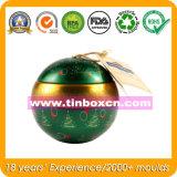 Het Tin van de bal voor de Verpakking van de Doos van het Tin van Kerstmis, het Blik van het Tin van de Gift