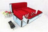 ضوء محترف - ضعف زرقاء مفتوحة بنية صندوق مع صينيّة متعدّد