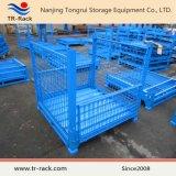 倉庫のためのスタック可能鋼線の網の記憶のケージ
