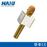 Plataformas sin hilos del soporte del altavoz estéreo del micrófono de Bluetooth del micrófono mágico del Karaoke con el clip del teléfono móvil
