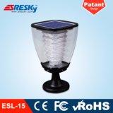 Lámpara recargable IP65 de la luz del jardín de la energía solar LED