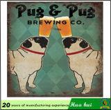 Картина собаки, декор стены Pub, штанга Becor поставляет C235-2
