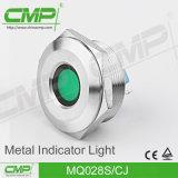 luz de indicador terminal do Pin do círculo liso de 28mm