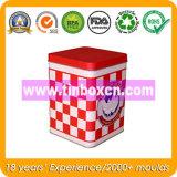 Квадратная коробка с новой конструкцией, коробка олова олова металла