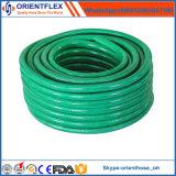 Manguito de jardín flexible trenzado del PVC de la fibra/manguito del agua