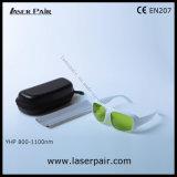 gafas de seguridad de laser de 800-1100nm Dir Lb5 para 808nm, 980nm, 1064nm lasers dentales, diodos, ND: YAG con el marco blanco 52