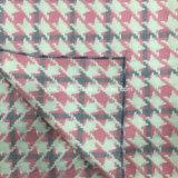 Ткань 3 шерстей проверки Houndstooth цветов готовая