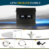 三バンド850/1900/Aws 1700/2100MHz移動式シグナルのブスター2g 3G 4Gのシグナルの中継器キット