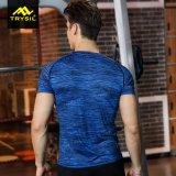 Tapa activa de Taining de la camiseta de la camisa de la manera de los hombres