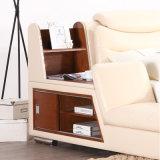 Korea-Art-modernes echtes Leder-Sofa-Bett für Wohnzimmer-Möbel - Fb8153